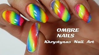 Ombre Rainbow Nails | Nail Art Tutorial (Khrystynas Nail Art)