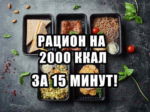 РАЦИОН НА ВЕСЬ ДЕНЬ ЗА 15 МИНУТ/2000 ККАЛ/ЗДОРОВОЕ ПИТАНИЕ