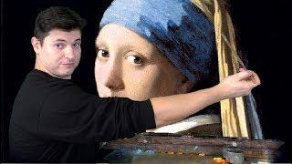 Как нарисовать портрет ►Девушка с жемчужной сережкой