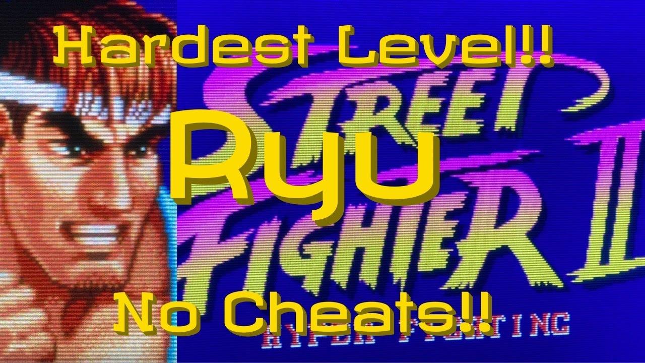 Ryu Street Fighter Ii Hyper Fighting Hardest No Cheats Youtube
