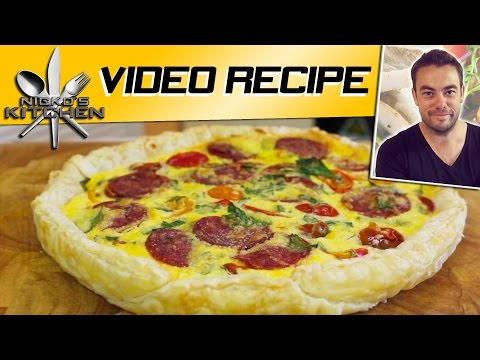 Easy Quiche Recipe | Nicko's Kitchen
