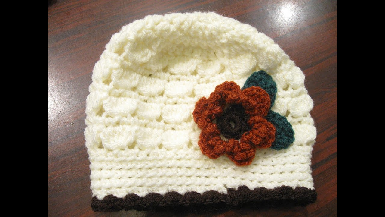 Cluster Stitch Beanie REVISED - Left Handed Crochet Tutorial - YouTube