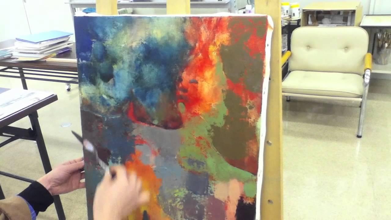 画_絵画/抽象画(油絵)の描き方-YouTube