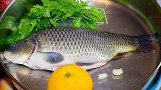 ОЧЕНЬ ВКУСНЫЙ КАРП С АПЕЛЬСИНАМИ | CARP WITH ORANGES. Готовим рыбу с чешуей.