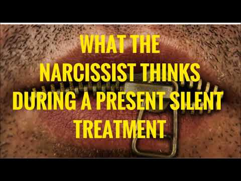 Getting the silent treatment from a narcissist