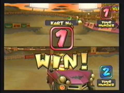 Mario Kart: Double Dash (GC) Online With Xlink [12/27/09] (Video 1 Of 4) 2 Races