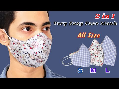 😷Very Easy DIY Face Mask- All Size (S M L) | Easy To Make Mask Sewing Tutorial | How To Make Mask
