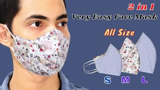 Very Easy DIY Face Mask All Size S M L Easy To Make Mask Sewing Tutorial How To Make Mask