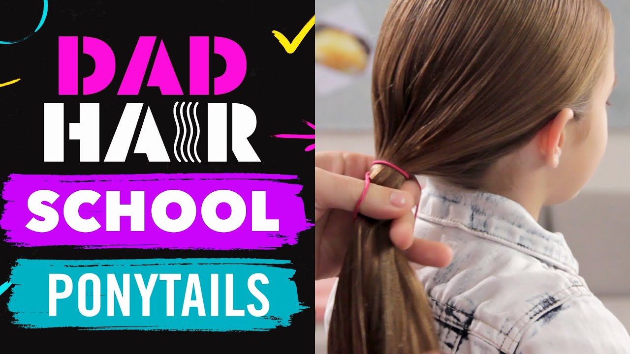 phil morgese shares 3 easy ponytail styles   dad hair school