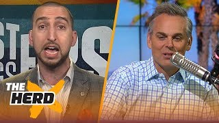 Nick Wright and Colin Cowherd disagreed on almost everything NBA related today | THE HERD