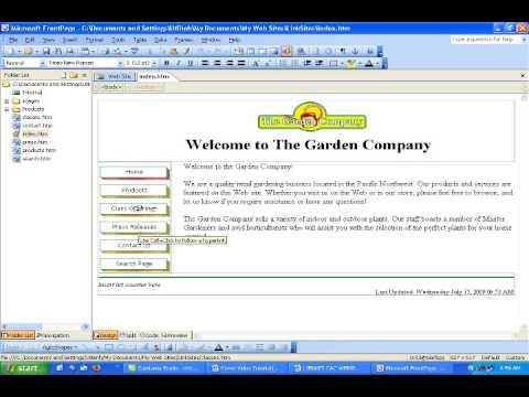 FRONTPAGE 2003 LIÊN KẾT CÁC WEBSITES  TẬP 1