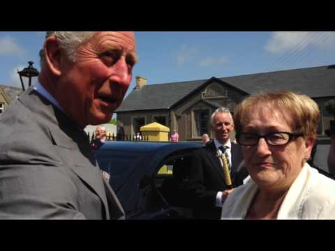 Prince Charles visits Portico in  Portaferry