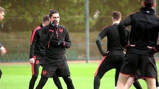 Arsenal Train Ahead Of Europa League Clash With AC Milan