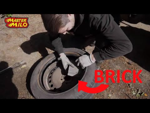 Driving 100km/h with a brick in a wheel