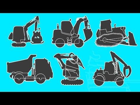 Мультик про машинки рабочие машины пазлы Все серии подряд Лесопогрузчик экскаватор