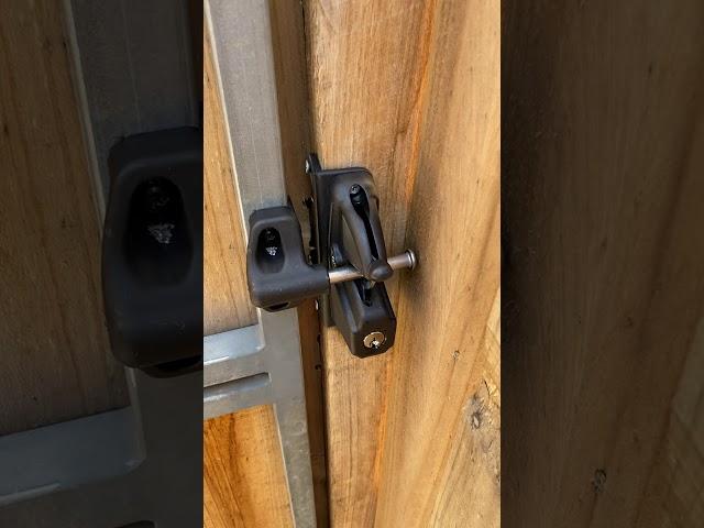 Gate lock installation. Lock latch Delux. Human Key Locksmiths Melbourne