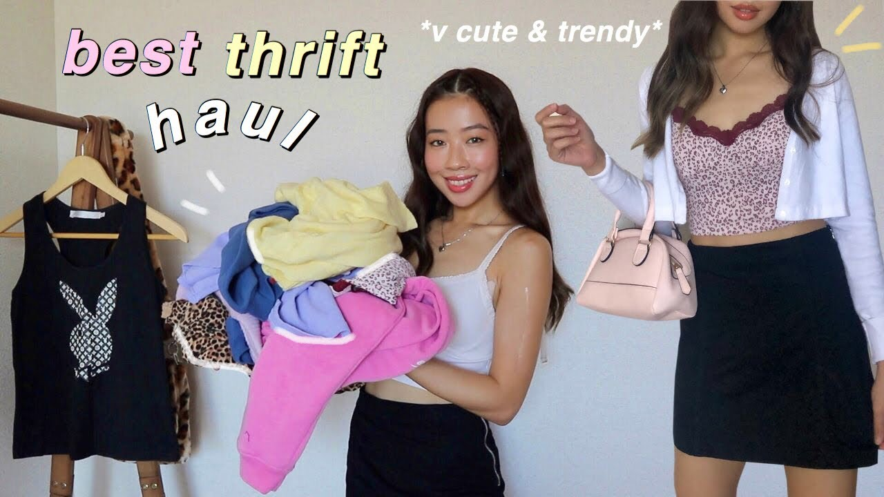 thrifting the CUTEST clothes + ukay HAUL *chef's kiss*