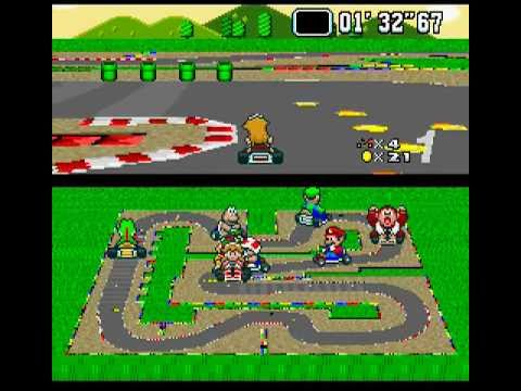 SNES Longplay [110] Super Mario Kart