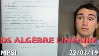 DS Algèbre Linéaire !