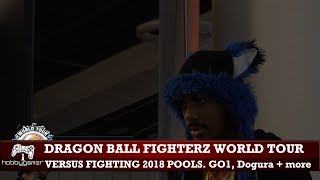 Dragon Ball FighterZ World Tour: Versus Fighting 2018 full POOLS (SonicFox, GO1, Dogura + more)