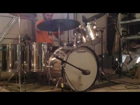 Led Zeppelin - Candy Store Rock (w/ Music) - Drum Cover - Vintage Ludwig Stainless Steel Kit