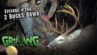 Amazing Whitetail Bow Hunts: Doubling Up On Bucks And Does