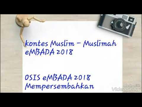Kontes Muslim - Muslimah eMBADA 2018