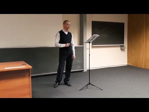 Two-parts vocal recital.  CERN, April 19, 2018.