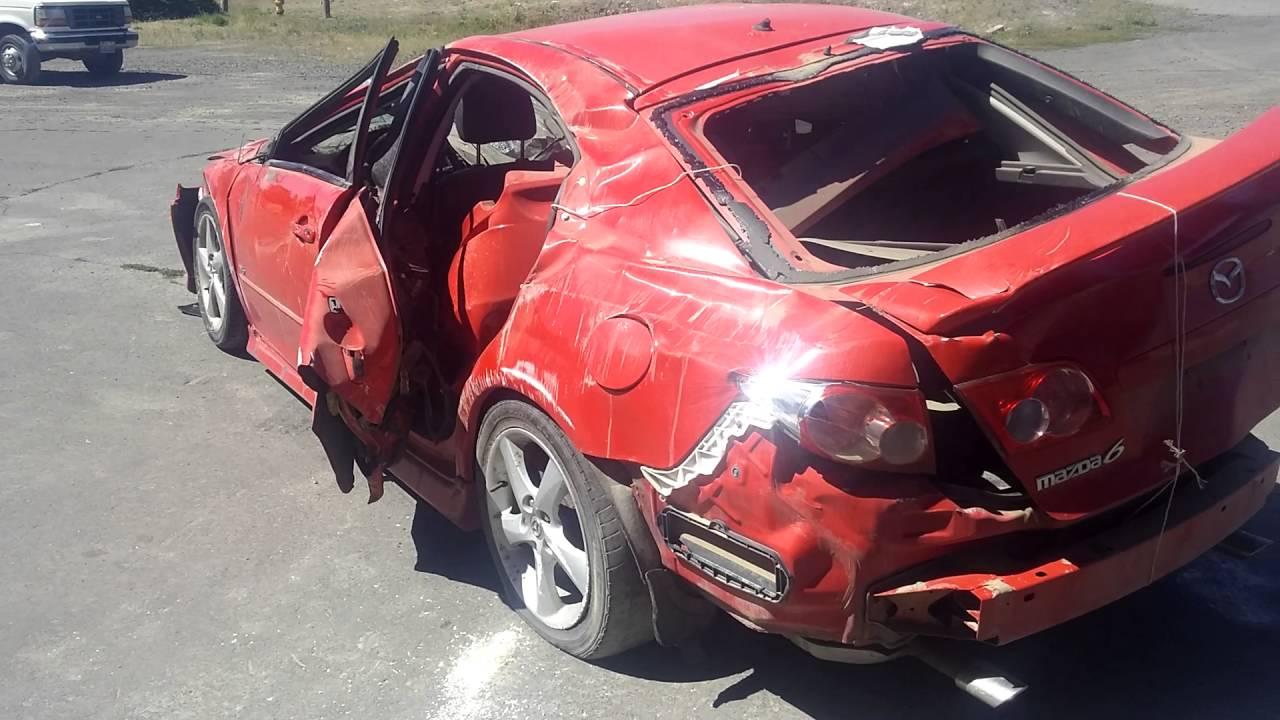 2005 MAZDA 6 ROLLOVER CRASH REVIEW