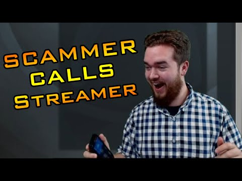 HILARIOUS! Scammer Calls Twitch Streamer LIVE