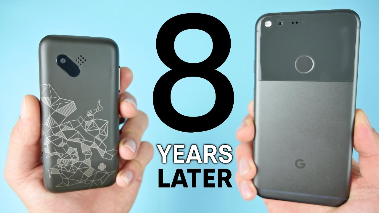 Phone First Google Android Phone first android phone vs google pixel 8 year comparison youtube comparison