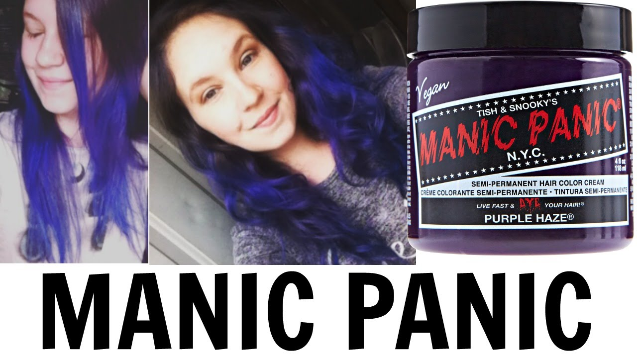 dyed hair purple manic panic