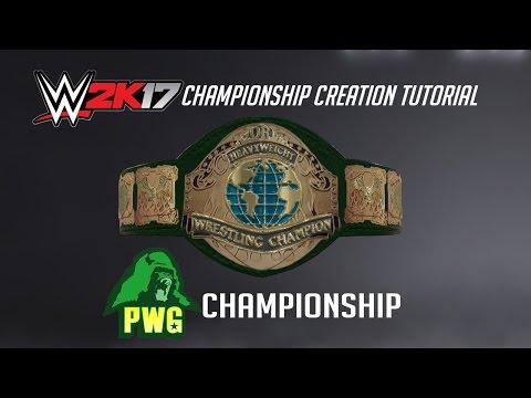 WWE 2K17 Creation Tutorial: PWG Championship