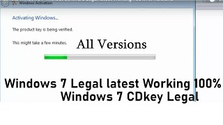 Activate Windows 7 Without Software Legal latest Working 100% All Versions