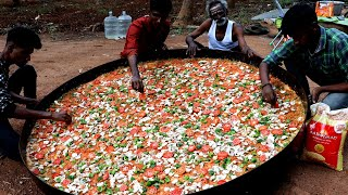 6 Feet !!! KING of PIZZA Prepared by my Daddy Arumugam / Village food factory