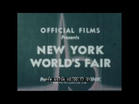1939 - 1940  NEW YORK WORLD'S FAIR IN COLOR   FUTURAMA EXHIBIT 69754