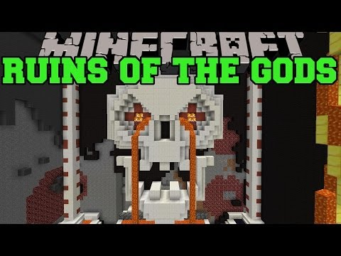 Minecraft: RUINS OF THE GODS ROLLER COASTER (CAN YOU SURVIVE THE GODS?) Map