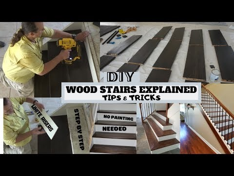 HOW TO INSTALL WOODEN STAIRS FOR BEGINNERS / DIY HOME RENOVATION WOODEN STAIRCASE TREADS / MUST SEE