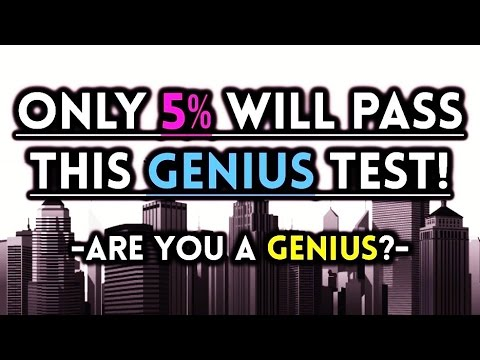 Only 5% Will Pass this Genius Pattern Test!