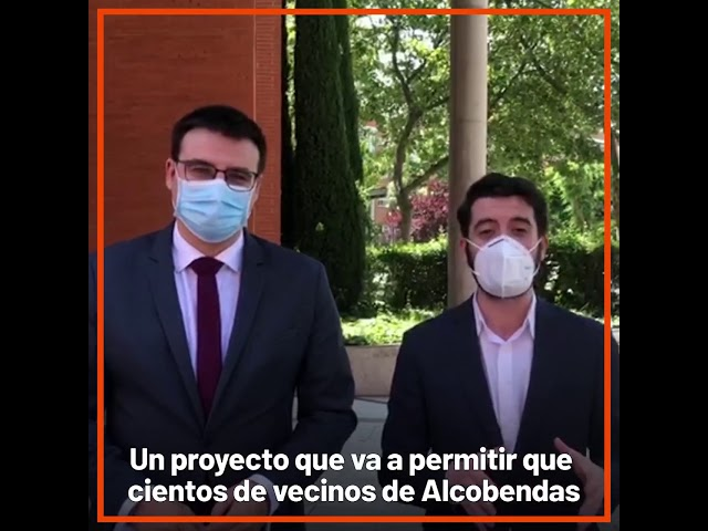 Cesar Zafra visita en Alcobendas terrenos 400 viviendas alquiler