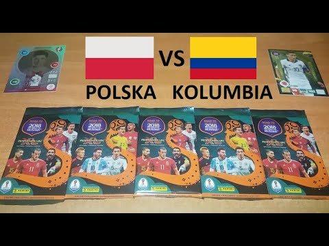 MECZ POLSKA VS KOLUMBIA - KARTY PANINI ROAD TO RUSSIA 2018