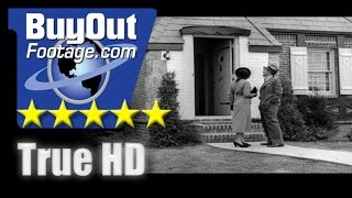 HD Historic Stock Footage Housing Market 1930's, Construction, Model Homes, Lifestyle, Americana