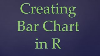 R Programming||Creating bar chart in R (along with text function)