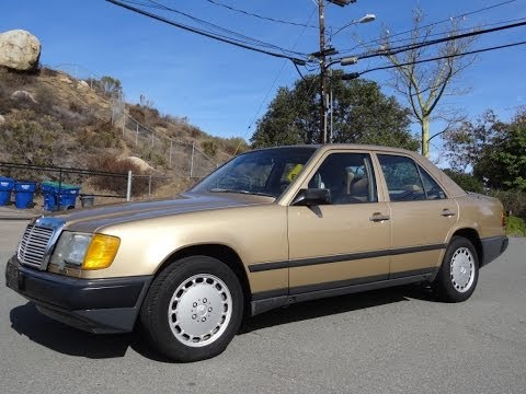1986 Mercedes Benz 300E W124 Sedan 1 Owner Full Video Review