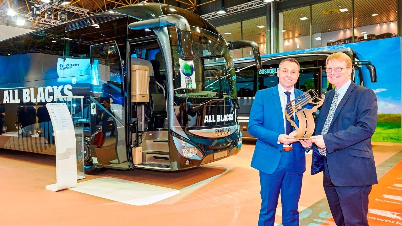 Iveco bus au salon bus world 2015 youtube for Bus mallemort salon