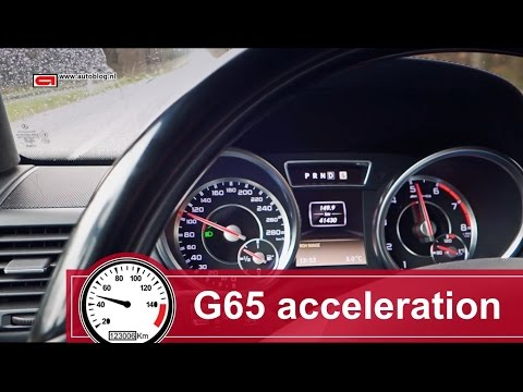 Volkswagen Company Latest Models - Mercedes-Benz G65 AMG acceleration video