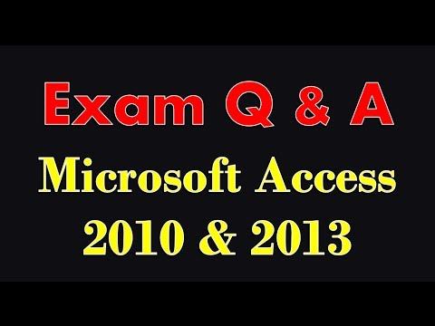 Exam Prep Microsoft Access 2010/2013/2016