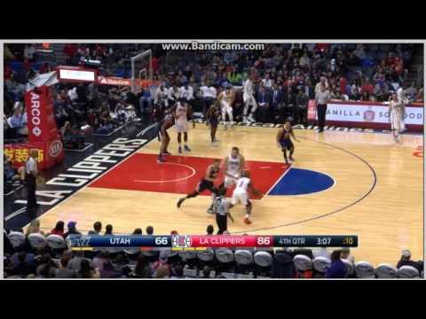 Joel Bolomboy big block on Blake Griffin - Los Angeles Clippers vs. Utah Jazz - NBA - 30/10/2016