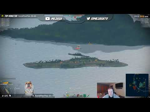 World of Warships Clan Battle against (NEP) Hurricane Win