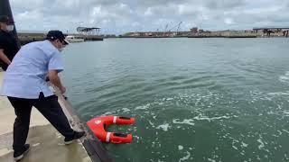 台灣海巡署の動く救命浮き輪